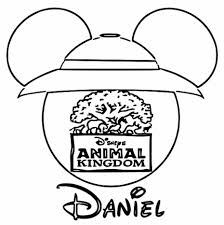 animal kingdom mickey face silhouette coloring