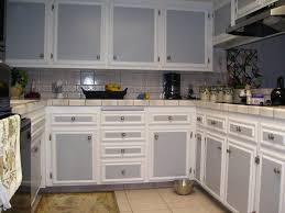 How To Paint Kitchen Cabinets Gray Kitchen Cabinets Two Tone Painted Kitchen Cabinets Two Colors