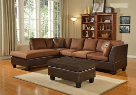 home one furniture microfiber sectional free storage ottoman