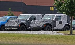 2019 jeep wrangler quartet of 2018 jeep wrangler jl 3 and 5 door prototypes spied