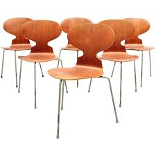 Danish Modern Furniture Houston by Danish Mid Century Modern Set Of Six Arne Jacobsen Ant Chairs