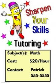 Math Tutor Business Cards Samples Educational Poster Templates Postermywall