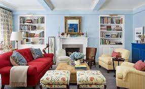 sky blue is one of the best paint colors for modern living room