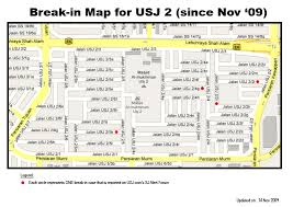 map usj 21 crime map for usj2