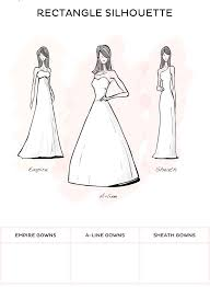 wedding dress type how to find the wedding dress rectangle style wedding