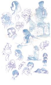 watercolor sketches on behance