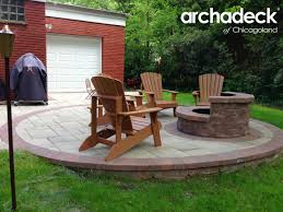 Backyard Fire Pit Landscaping Ideas by Fire Pit Design Ideas U2013 Outdoor Living With Archadeck Of Chicagoland