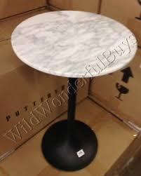 marble top pedestal table pottery barn bridget pedestal table 24 carrara marble top accent