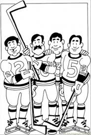 hockey team coloring page coloring page free winter sports