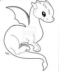easy drawing of a dragon cute ba dragons coloring pages