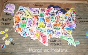 Kids Map Of The United States by Salt Dough Maps Meatloaf And Melodrama