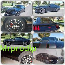 Black Mustang With Stripes 2015 Mustang With Matte Black Vinyl Racing Stripes Rocker Stripes