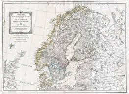 Map Of Norway Large Detailed Old Map Of Norway Sweden Denmark And Finland