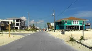 narrow streets of pensacola beach fl usa youtube