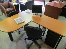l shaped peninsula desk with laminate and 1