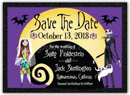 nightmare before save the date cards di 5051sd