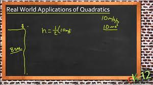 solving real world problems using quadratic equations an algebra i you