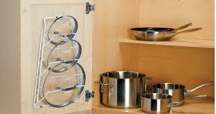 kitchen cabinet door pot and pan lid rack organizer cabinet door lid rack organizer only 6 58 hip2save