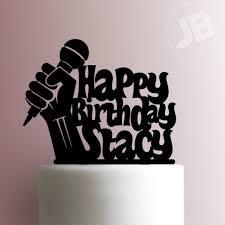happy birthday cake topper microphone happy birthday cake topper 100