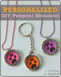 Personalized Paw Print Necklace A Thrifter In Disguise Diy Personalized Paw Print Pendants