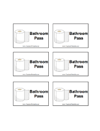 4 best images of free printable parking passes bathroom pass