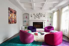 living room living room interior pink and blue painted room room