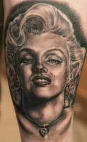 marilyn monroe tattoo designed by andy engel design of