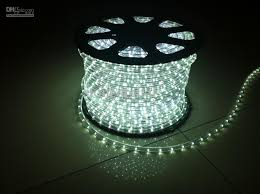 wholesale led lights rope style with 36 lights m white