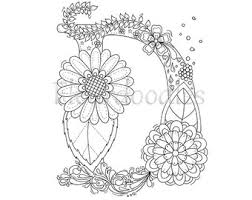 hand drawn coloring pages by maike geller by fleurdoodles on etsy