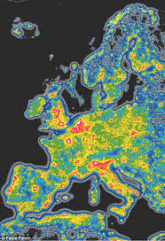 Light Polution Map Interactive Map Reveals Light Pollution Around The Globe Daily
