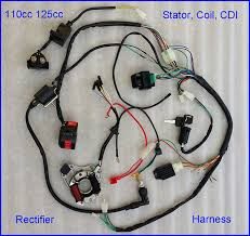 stock in usa 50 70 90 110cc 125cc wire harness wiring cdi assembly
