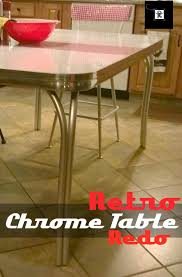 Chrome Furniture Legs by Retro Chrome Table Redo Redo It Yourself Inspirations Retro