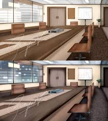 visual novel project office meeting room concept by ronggo on