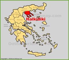 Greece Turkey Map by Halkidiki Maps Greece Maps Of Halkidiki Chalkidiki