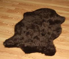 ideas faux fur area rug fake bear skin rug how to make a bear rug