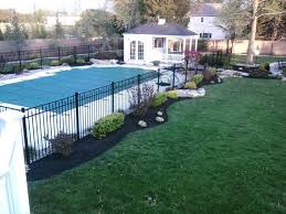 Fence Landscaping Ideas Planting Around Pool Fence Landscape Around Pool Ideas Pool