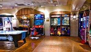 arcade and gaming room at the turning stone casino in verona
