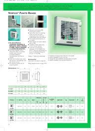 Vortice Bathroom Fan Vortice Punto Range Vortice Pdf Catalogues Documentation