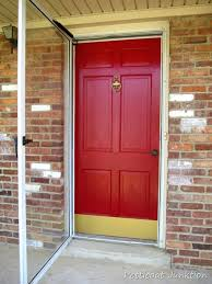 brass kick plate for front door i want a red front door red front