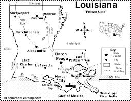 printable map key louisiana map quiz printout enchantedlearning com