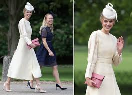 donna air wears cream dress to pippa middleton u0027s wedding
