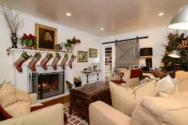 Farmhouse Sitting Room - country farmhouse with equestrian christmas decor kerrie kelly