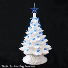 winter white ceramic tree 11 1 2 inch blue dove