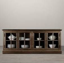 restoration hardware china cabinet hton casement glass sideboard glassware organization