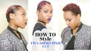 twa pixie on long hair 3 super easy styles on twa short pixie cut youtube