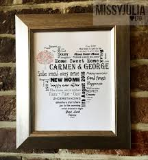 new home print gift housewarming personalised unframed word art p142