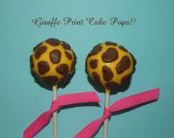 12 Giraffe Cake Pops Zoo Safari Noahs Ark Party Baby Shower
