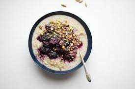 quinoa cuisine sprouted quinoa porridge with blackberry cardamom sauce nourished