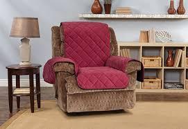 Wing Chair Cover Memory Foam Non Slip Recliner Slipcover