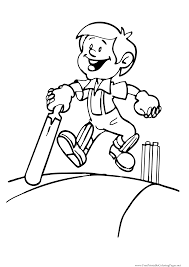 cricket sport coloring pages getcoloringpages com
